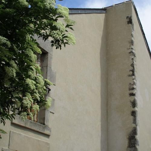 Vue du clocher depuis le quartier bas de Loire